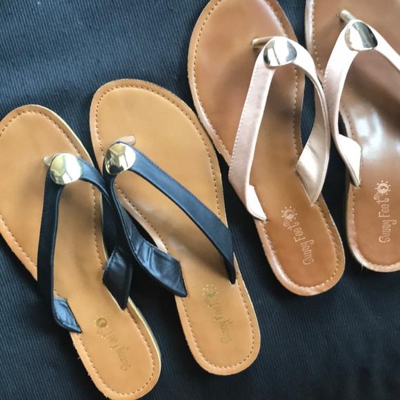 f8deb3bcaec648 2 Pairs of Sunny Feet Flip Flops. M 5b0577109d20f0f51ca0950c